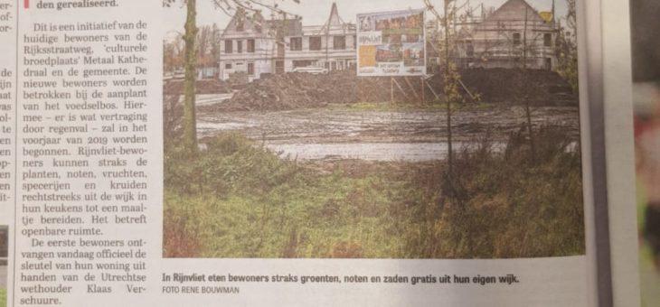 Eerste bewoners Rijnvliet